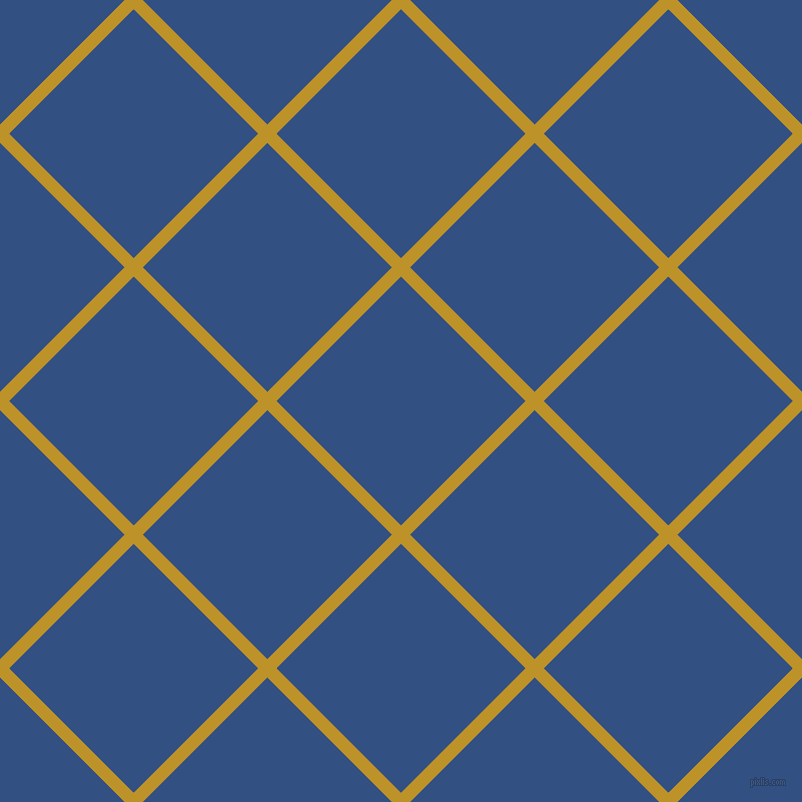 45/135 degree angle diagonal checkered chequered lines, 13 pixel lines width, 176 pixel square size, Nugget and Fun Blue plaid checkered seamless tileable