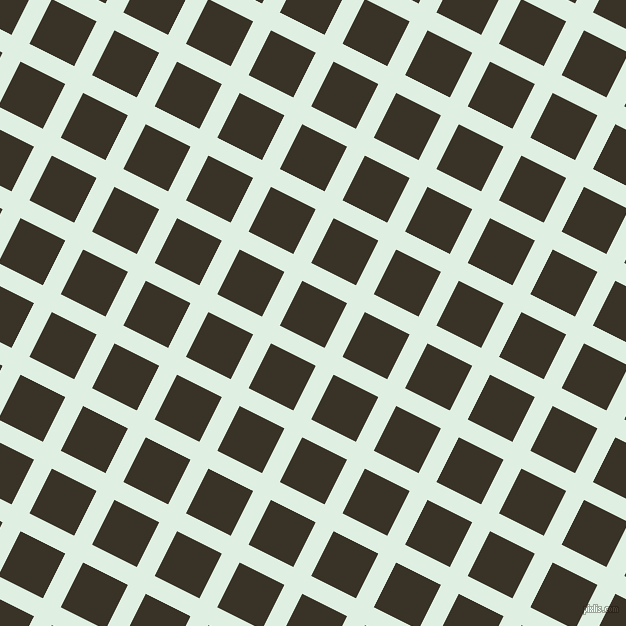 63/153 degree angle diagonal checkered chequered lines, 20 pixel lines width, 50 pixel square size, Off Green and Creole plaid checkered seamless tileable