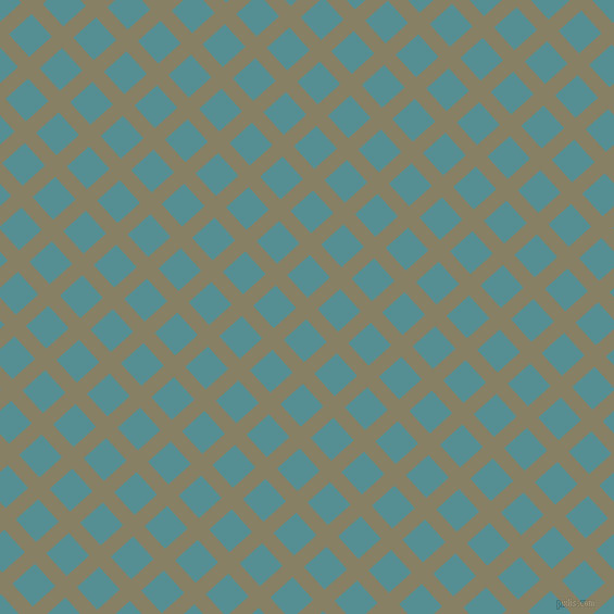 42/132 degree angle diagonal checkered chequered lines, 14 pixel lines width, 28 pixel square size, Olive Haze and Half Baked plaid checkered seamless tileable