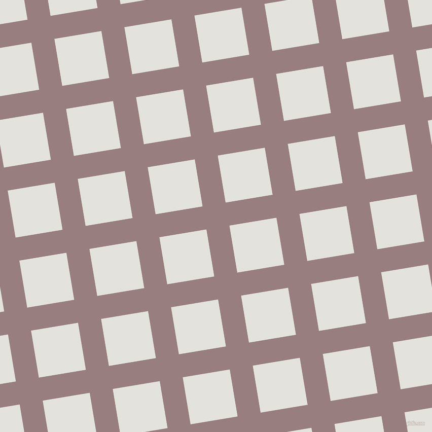 9/99 degree angle diagonal checkered chequered lines, 46 pixel line width, 94 pixel square size, Opium and Wan White plaid checkered seamless tileable