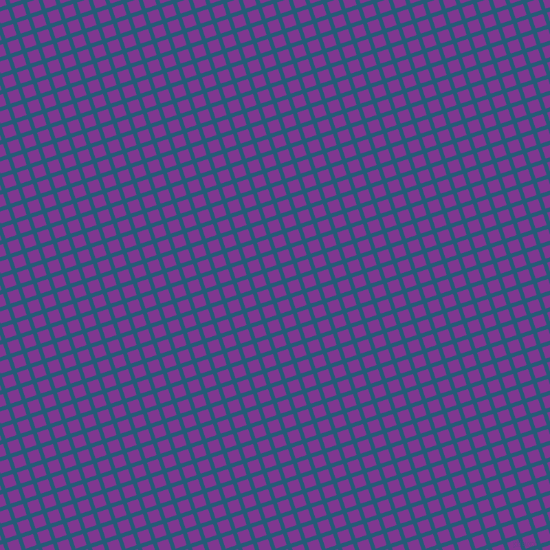 18/108 degree angle diagonal checkered chequered lines, 6 pixel line width, 17 pixel square size, Orient and Vivid Violet plaid checkered seamless tileable
