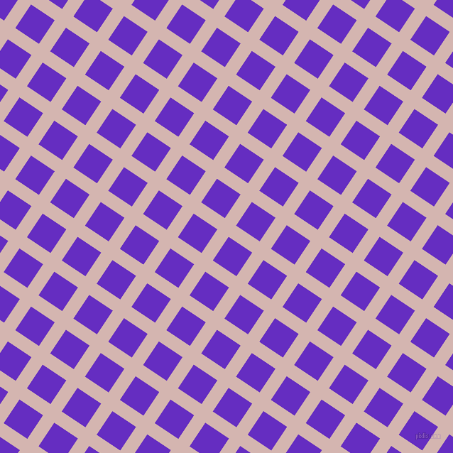 56/146 degree angle diagonal checkered chequered lines, 19 pixel lines width, 40 pixel square size, Oyster Pink and Purple Heart plaid checkered seamless tileable