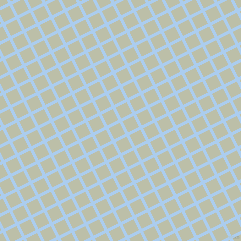 27/117 degree angle diagonal checkered chequered lines, 10 pixel line width, 39 pixel square size, Pale Cornflower Blue and Beryl Green plaid checkered seamless tileable