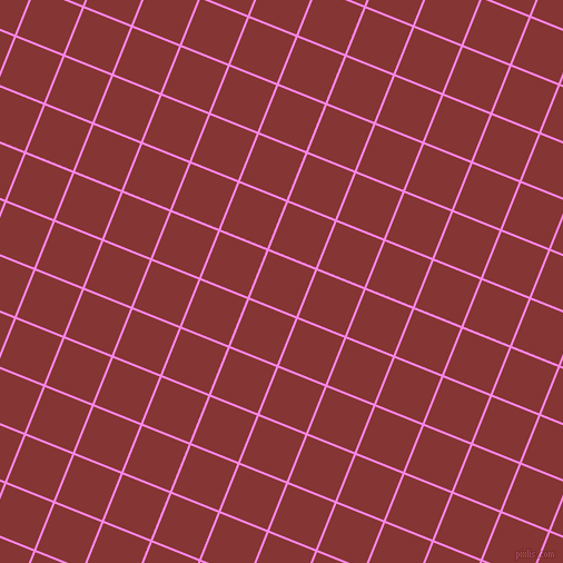 68/158 degree angle diagonal checkered chequered lines, 2 pixel lines width, 45 pixel square size, Pale Magenta and Tall Poppy plaid checkered seamless tileable