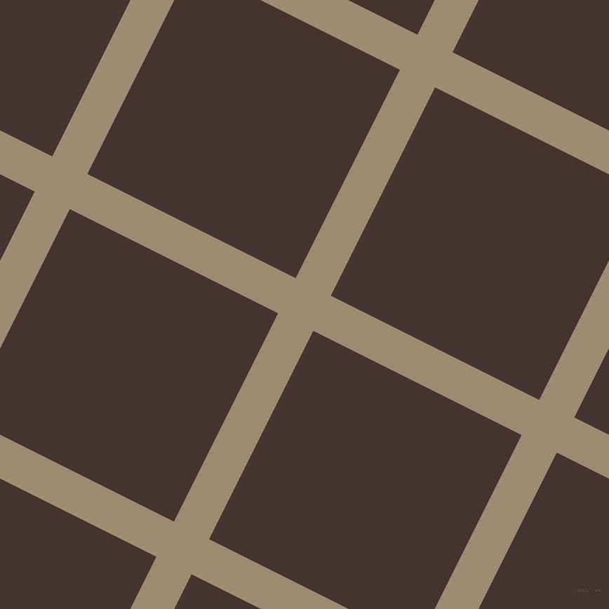 63/153 degree angle diagonal checkered chequered lines, 56 pixel lines width, 332 pixel square size, Pale Oyster and Rebel plaid checkered seamless tileable