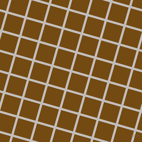 74/164 degree angle diagonal checkered chequered lines, 9 pixel lines width, 69 pixel square size, Pale Slate and Raw Umber plaid checkered seamless tileable