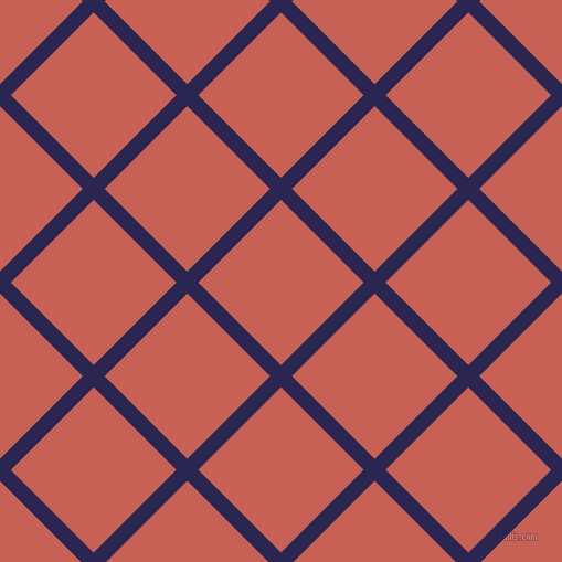45/135 degree angle diagonal checkered chequered lines, 14 pixel lines width, 106 pixel square size, Paua and Sunglo plaid checkered seamless tileable