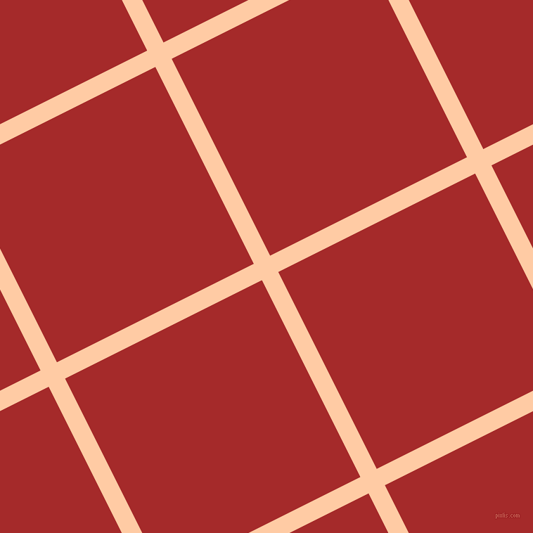 27/117 degree angle diagonal checkered chequered lines, 26 pixel lines width, 313 pixel square size, Peach and Brown plaid checkered seamless tileable