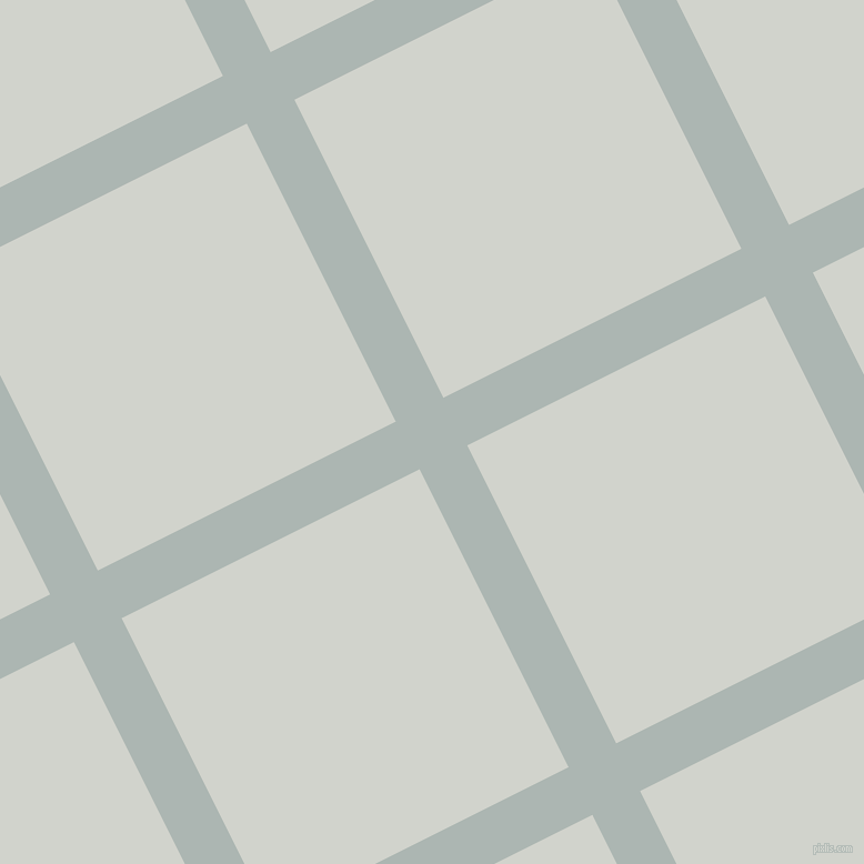 27/117 degree angle diagonal checkered chequered lines, 48 pixel lines width, 300 pixel square size, Periglacial Blue and Grey Nurse plaid checkered seamless tileable