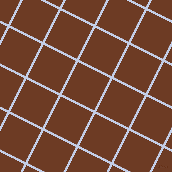63/153 degree angle diagonal checkered chequered lines, 8 pixel lines width, 123 pixel square size, Periwinkle and New Amber plaid checkered seamless tileable
