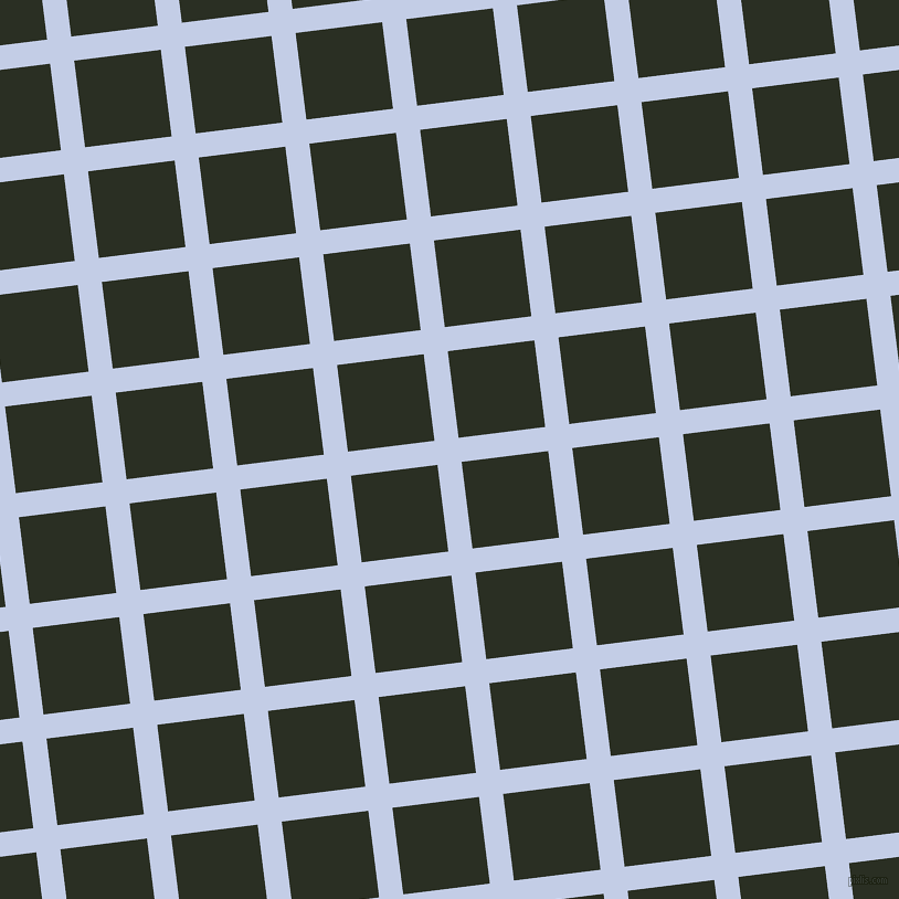 7/97 degree angle diagonal checkered chequered lines, 22 pixel line width, 79 pixel square size, Periwinkle and Pine Tree plaid checkered seamless tileable