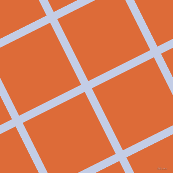 27/117 degree angle diagonal checkered chequered lines, 27 pixel line width, 234 pixel square size, Periwinkle and Sorbus plaid checkered seamless tileable