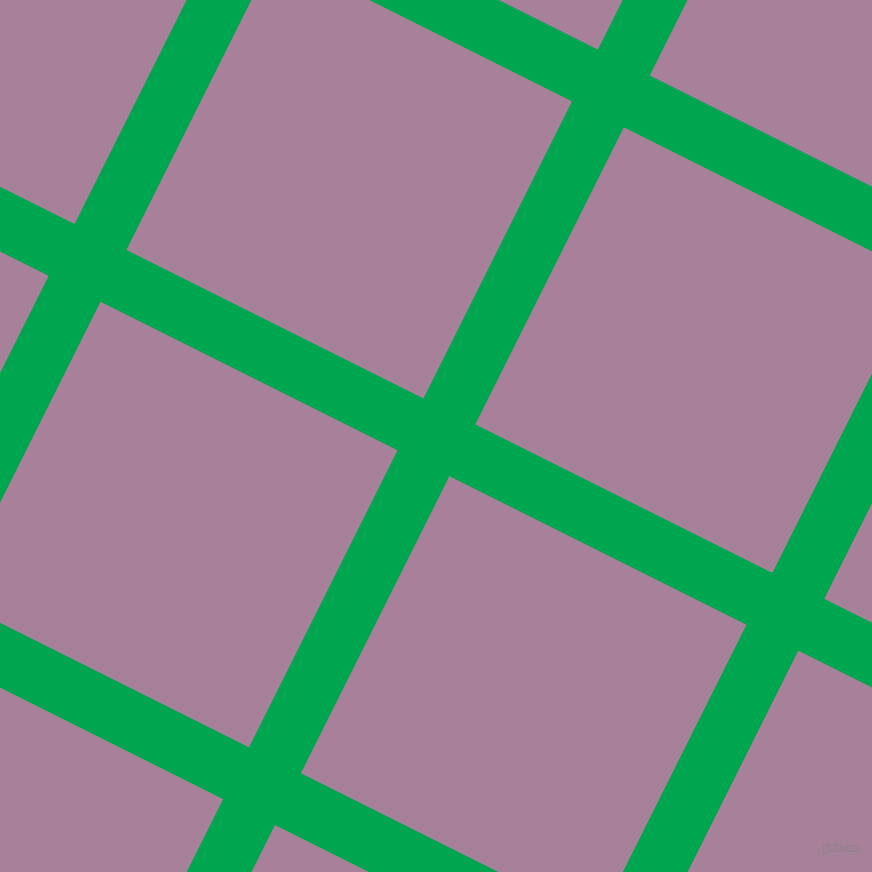 63/153 degree angle diagonal checkered chequered lines, 58 pixel lines width, 332 pixel square size, Pigment Green and Bouquet plaid checkered seamless tileable