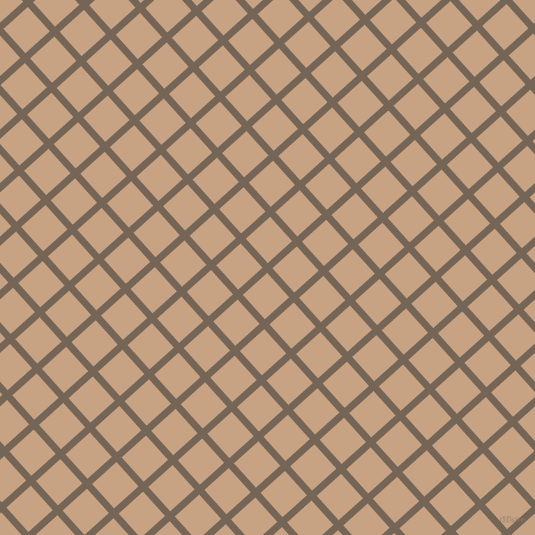 42/132 degree angle diagonal checkered chequered lines, 10 pixel lines width, 47 pixel square size, Pine Cone and Rodeo Dust plaid checkered seamless tileable