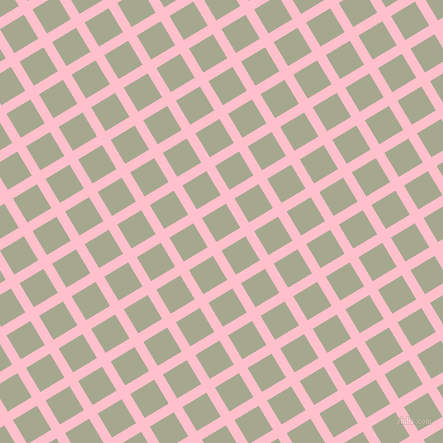 31/121 degree angle diagonal checkered chequered lines, 10 pixel line width, 28 pixel square size, Pink and Bud plaid checkered seamless tileable