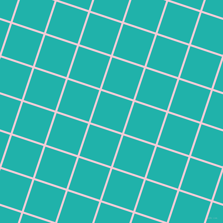 72/162 degree angle diagonal checkered chequered lines, 7 pixel line width, 114 pixel square size, Pink Lace and Light Sea Green plaid checkered seamless tileable