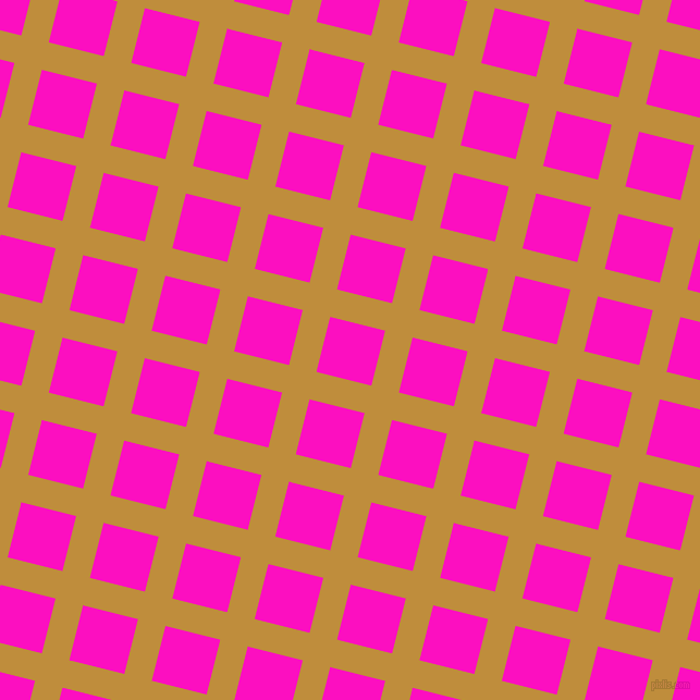 76/166 degree angle diagonal checkered chequered lines, 26 pixel line width, 52 pixel square size, Pizza and Shocking Pink plaid checkered seamless tileable
