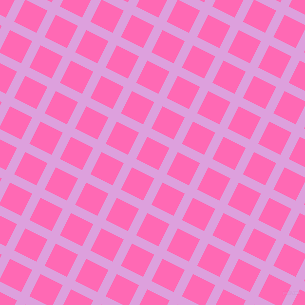 63/153 degree angle diagonal checkered chequered lines, 19 pixel line width, 51 pixel square size, Plum and Hot Pink plaid checkered seamless tileable