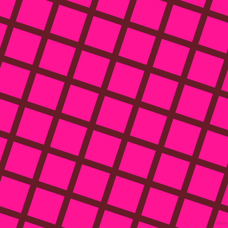 72/162 degree angle diagonal checkered chequered lines, 21 pixel lines width, 97 pixel square size, Pohutukawa and Deep Pink plaid checkered seamless tileable