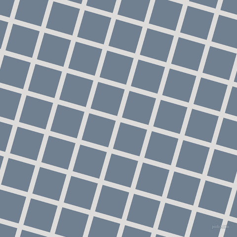 74/164 degree angle diagonal checkered chequered lines, 10 pixel lines width, 56 pixel square size, Porcelain and Slate Grey plaid checkered seamless tileable
