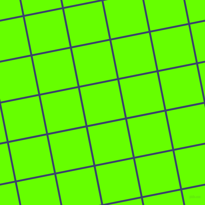 11/101 degree angle diagonal checkered chequered lines, 6 pixel lines width, 123 pixel square size, Port Gore and Bright Green plaid checkered seamless tileable