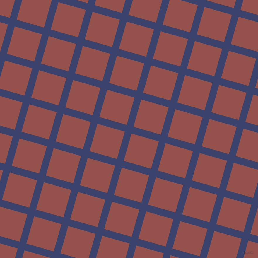 74/164 degree angle diagonal checkered chequered lines, 24 pixel line width, 97 pixel square size, Port Gore and Copper Rust plaid checkered seamless tileable