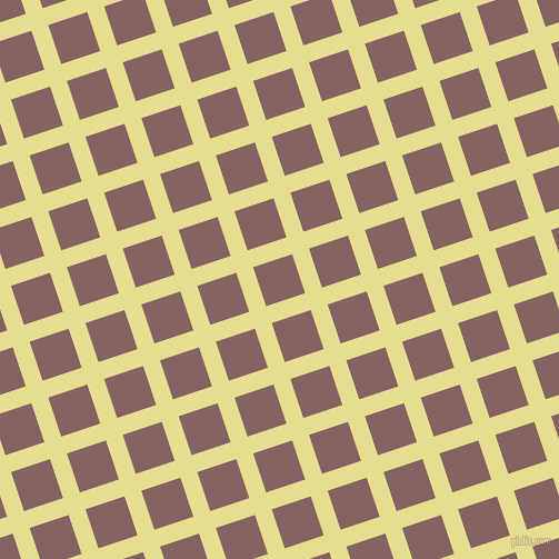 18/108 degree angle diagonal checkered chequered lines, 16 pixel lines width, 37 pixel square size, Primrose and Light Wood plaid checkered seamless tileable