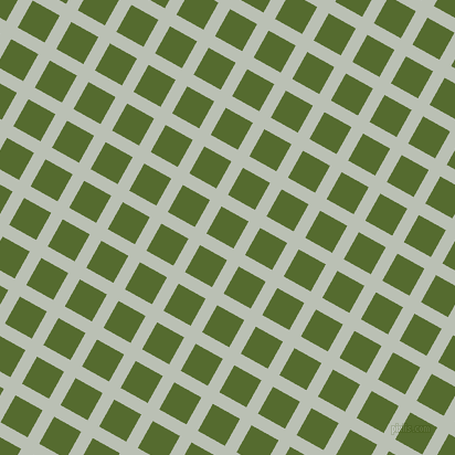 61/151 degree angle diagonal checkered chequered lines, 12 pixel lines width, 28 pixel square size, Pumice and Dark Olive Green plaid checkered seamless tileable