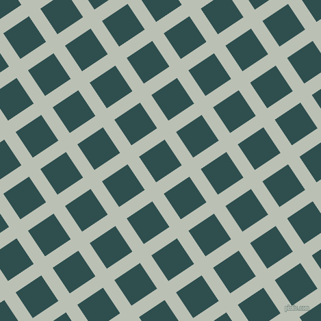 34/124 degree angle diagonal checkered chequered lines, 20 pixel lines width, 45 pixel square size, Pumice and Dark Slate Grey plaid checkered seamless tileable