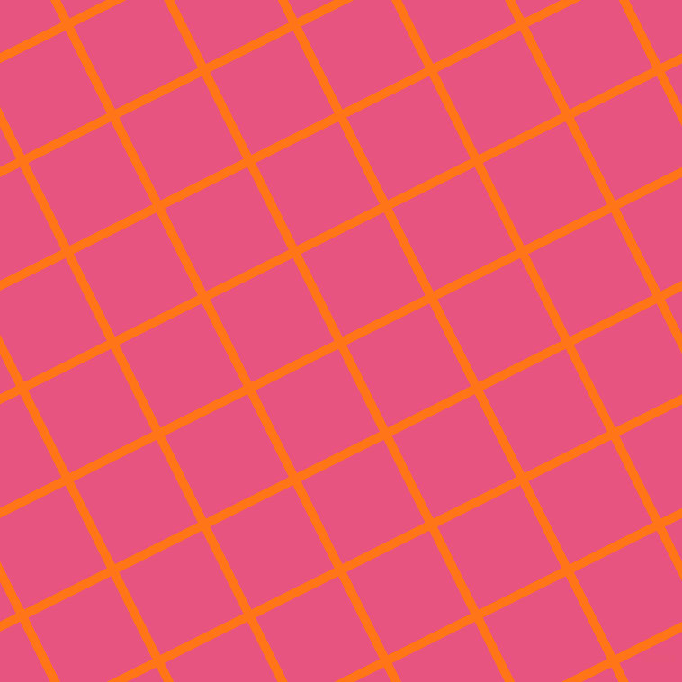 27/117 degree angle diagonal checkered chequered lines, 10 pixel line width, 103 pixel square size, Pumpkin and Dark Pink plaid checkered seamless tileable