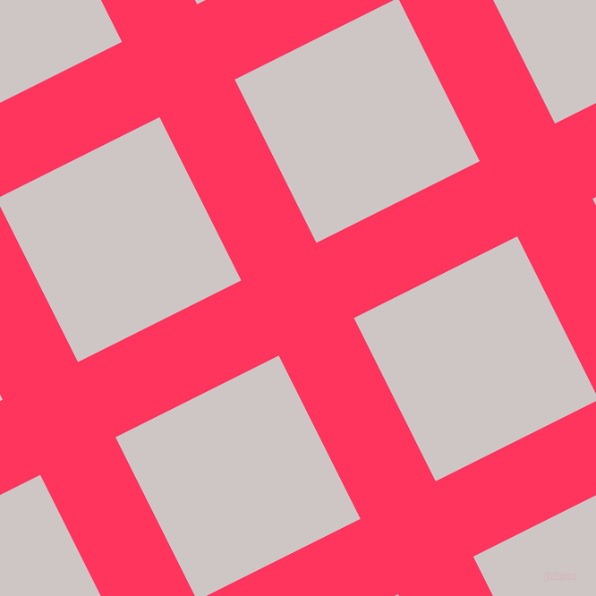 27/117 degree angle diagonal checkered chequered lines, 94 pixel lines width, 204 pixel square size, Radical Red and Alto plaid checkered seamless tileable