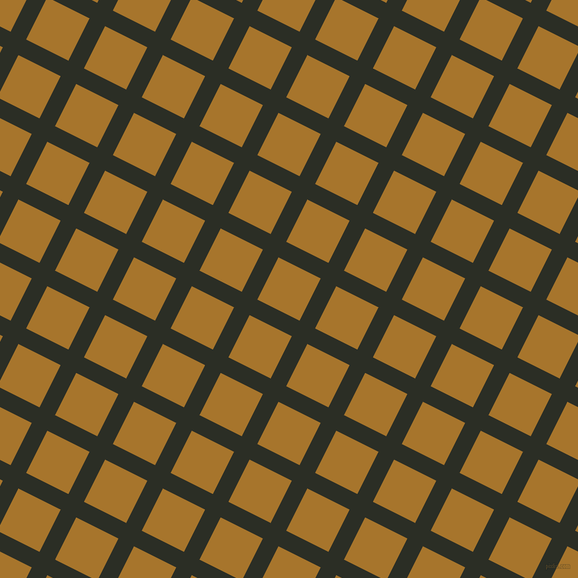 63/153 degree angle diagonal checkered chequered lines, 25 pixel line width, 68 pixel square size, Rangoon Green and Hot Toddy plaid checkered seamless tileable