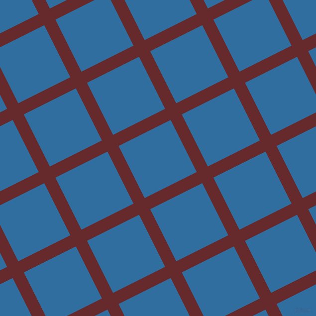 27/117 degree angle diagonal checkered chequered lines, 25 pixel line width, 117 pixel square size, Red Devil and Lochmara plaid checkered seamless tileable
