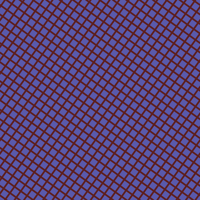 54/144 degree angle diagonal checkered chequered lines, 6 pixel lines width, 21 pixel square size, Red Oxide and Rich Blue plaid checkered seamless tileable