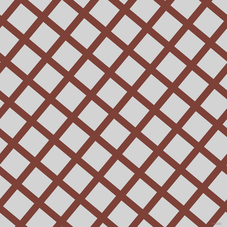 50/140 degree angle diagonal checkered chequered lines, 24 pixel line width, 77 pixel square size, Red Robin and Light Grey plaid checkered seamless tileable