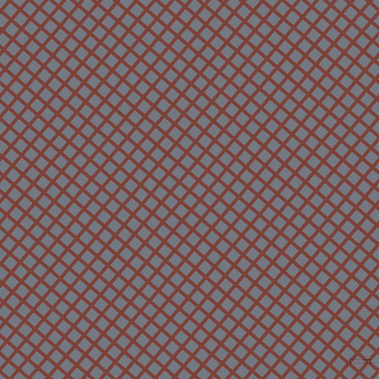 49/139 degree angle diagonal checkered chequered lines, 5 pixel lines width, 15 pixel square size, Red Robin and Storm Grey plaid checkered seamless tileable