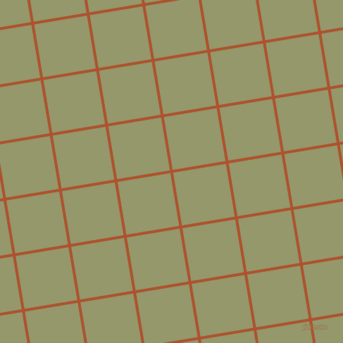 9/99 degree angle diagonal checkered chequered lines, 4 pixel line width, 76 pixel square size, Red Stage and Avocado plaid checkered seamless tileable