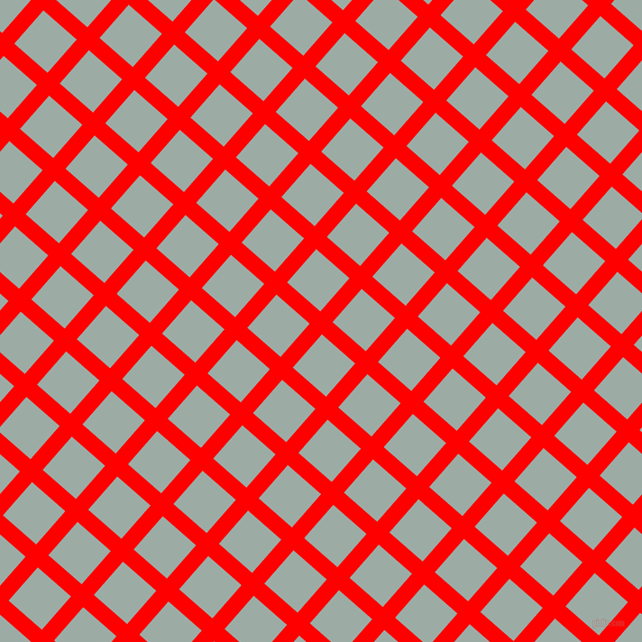 49/139 degree angle diagonal checkered chequered lines, 18 pixel lines width, 49 pixel square size, Red and Tower Grey plaid checkered seamless tileable