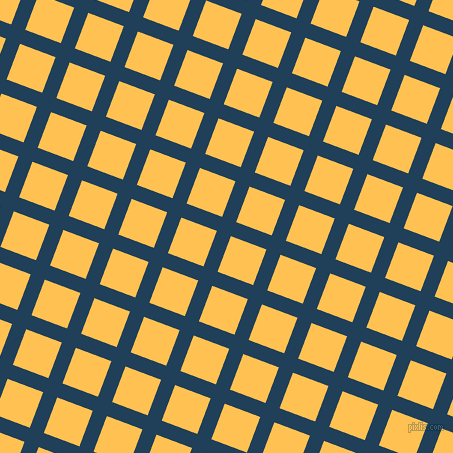 69/159 degree angle diagonal checkered chequered lines, 15 pixel line width, 38 pixel square size, Regal Blue and Golden Tainoi plaid checkered seamless tileable
