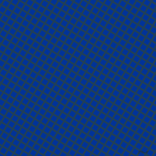 59/149 degree angle diagonal checkered chequered lines, 6 pixel lines width, 16 pixel square size, Regal Blue and Smalt plaid checkered seamless tileable