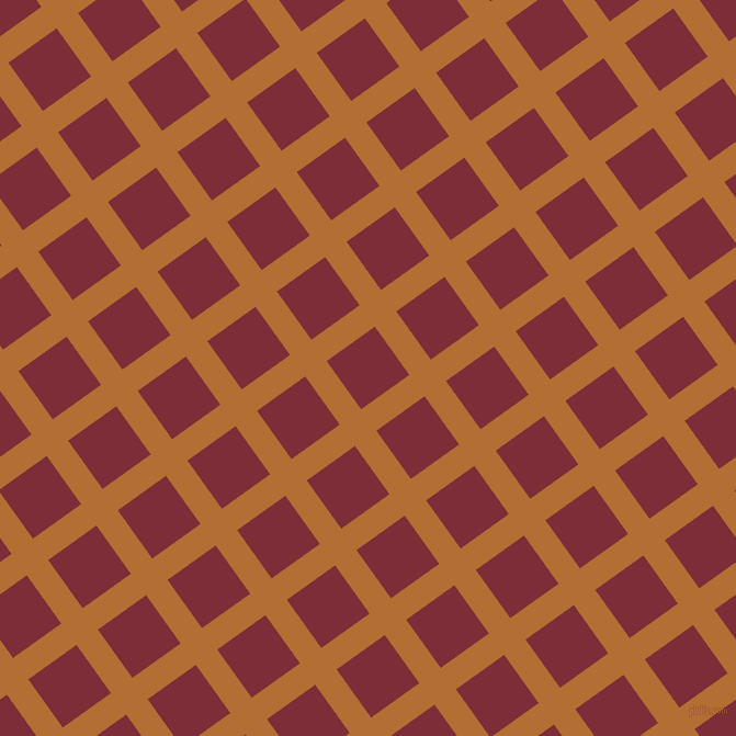 36/126 degree angle diagonal checkered chequered lines, 24 pixel lines width, 54 pixel square size, Reno Sand and Paprika plaid checkered seamless tileable