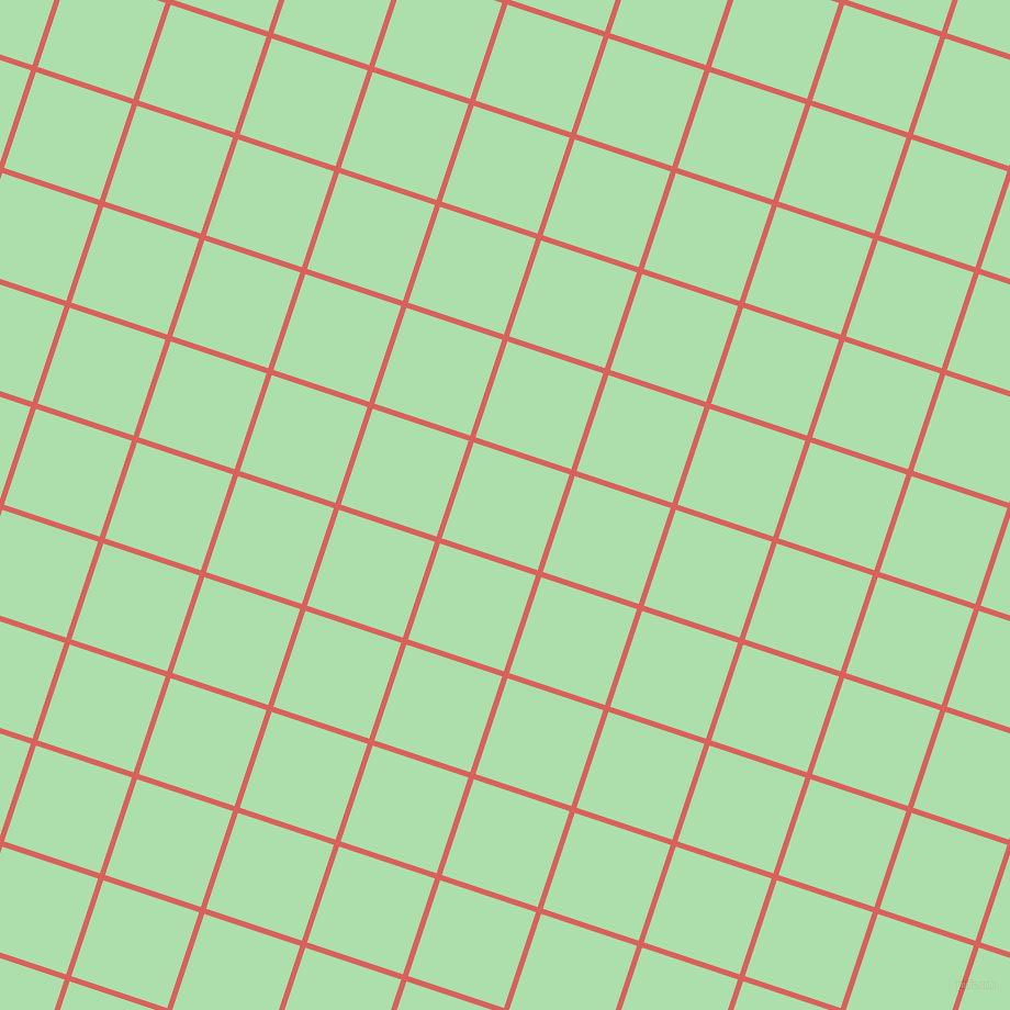 72/162 degree angle diagonal checkered chequered lines, 5 pixel line width, 92 pixel square size, Roman and Moss Green plaid checkered seamless tileable