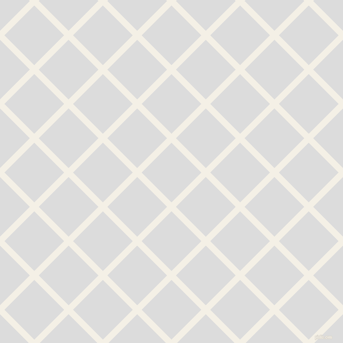 45/135 degree angle diagonal checkered chequered lines, 13 pixel line width, 87 pixel square size, Romance and Gainsboro plaid checkered seamless tileable