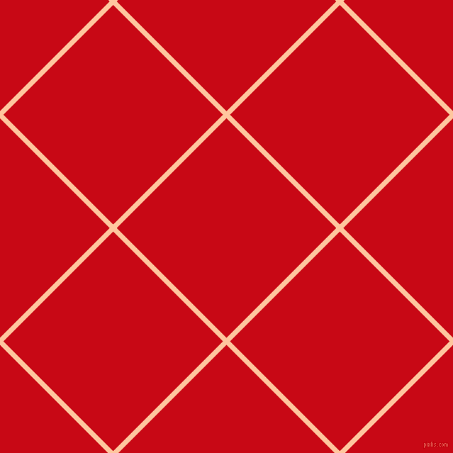 45/135 degree angle diagonal checkered chequered lines, 7 pixel line width, 219 pixel square size, Romantic and Venetian Red plaid checkered seamless tileable