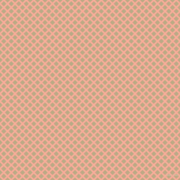45/135 degree angle diagonal checkered chequered lines, 5 pixel line width, 12 pixel square size, Rose Bud and Pavlova plaid checkered seamless tileable