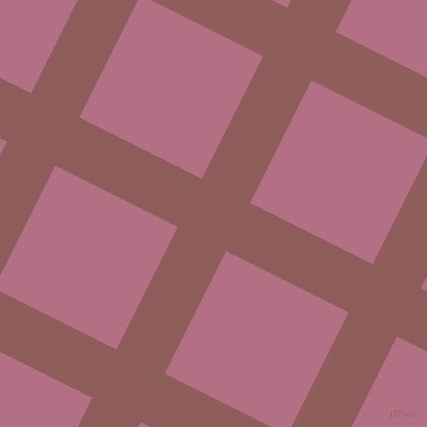 63/153 degree angle diagonal checkered chequered lines, 77 pixel line width, 195 pixel square size, Rose Taupe and Tapestry plaid checkered seamless tileable