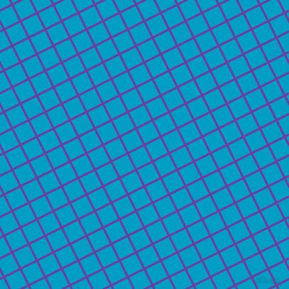 27/117 degree angle diagonal checkered chequered lines, 3 pixel line width, 23 pixel square size, Royal Purple and Pacific Blue plaid checkered seamless tileable