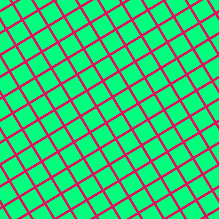 31/121 degree angle diagonal checkered chequered lines, 8 pixel line width, 54 pixel square size, Ruby and Spring Green plaid checkered seamless tileable