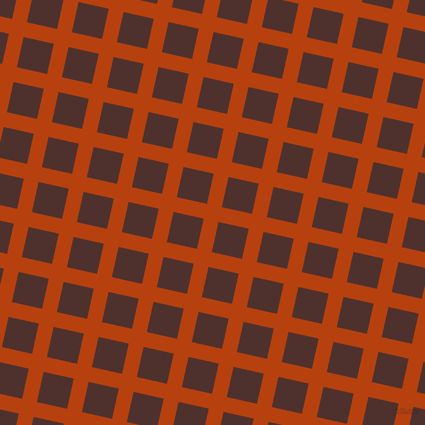 77/167 degree angle diagonal checkered chequered lines, 22 pixel line width, 45 pixel square size, Rust and Espresso plaid checkered seamless tileable