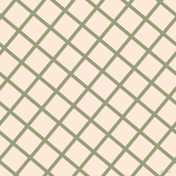 50/140 degree angle diagonal checkered chequered lines, 11 pixel lines width, 62 pixel square size, Sage and Serenade plaid checkered seamless tileable
